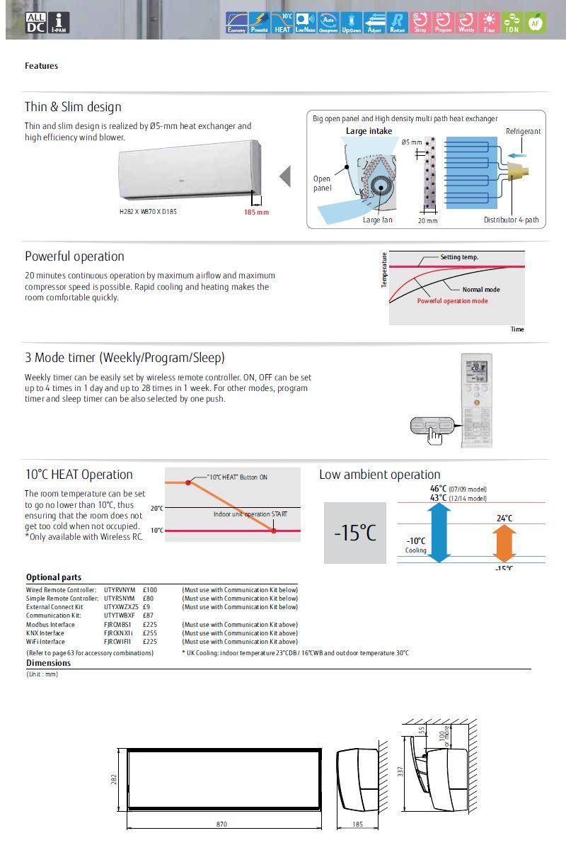 Fujitsu Split ac manual